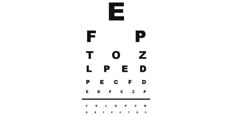 tesztelje látását