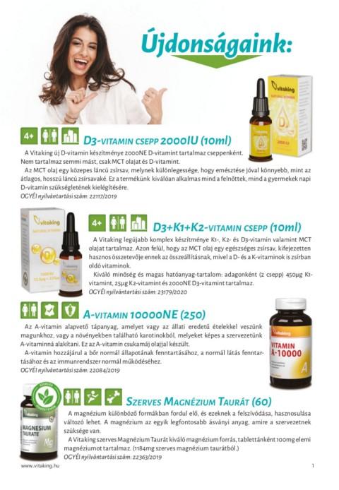 a látáshoz szükséges vitaminok listája