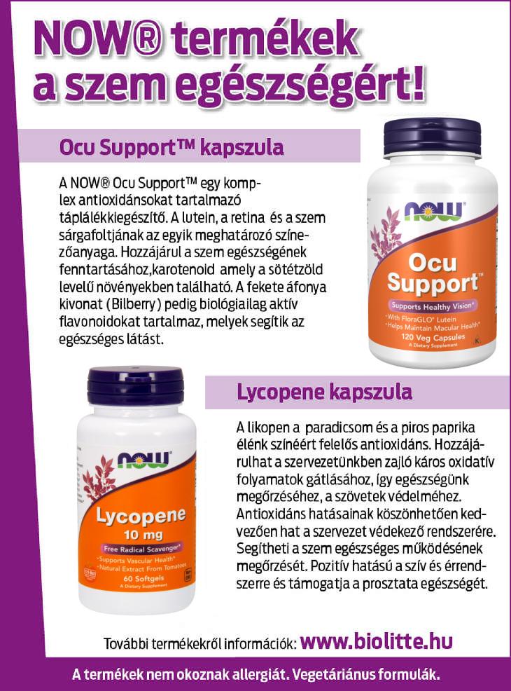 termékek és vitaminok a látáshoz