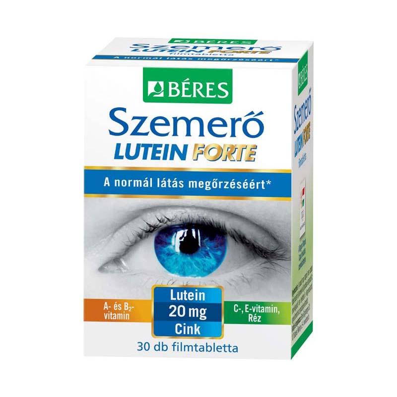 szemtáplálás a látás javítása érdekében
