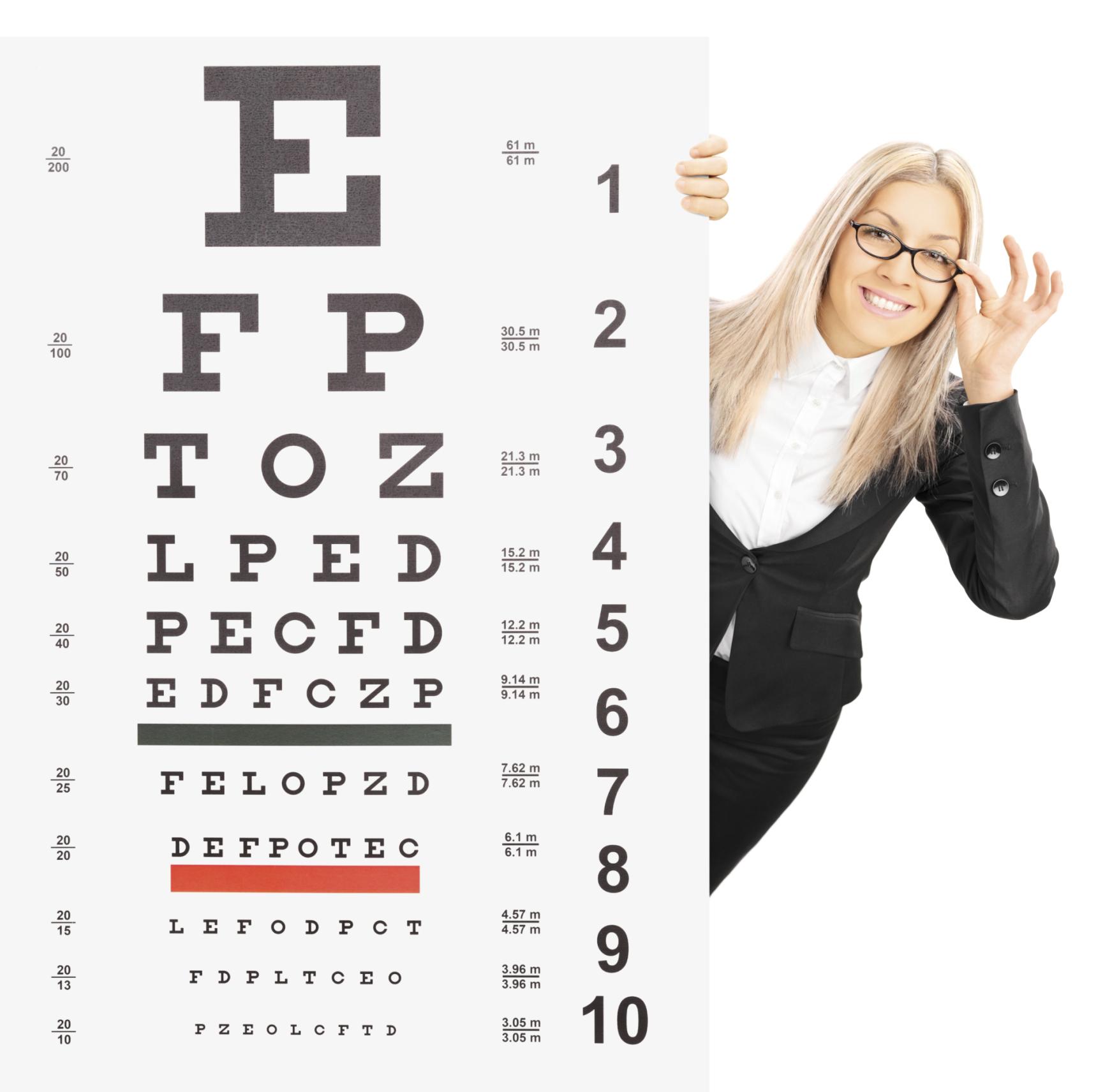 a táblázat értéke a látásra
