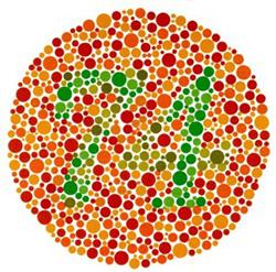 könyv a látás színvakság tesztelésére