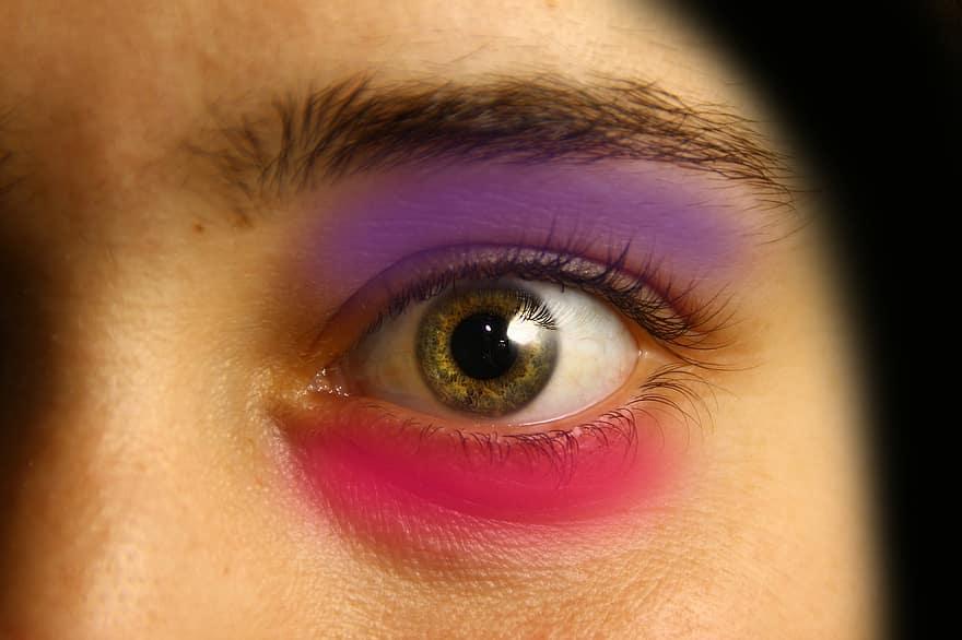 spirális látás a szemekben