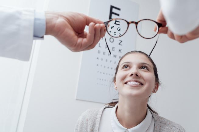 dioptriák és a látás százalékos aránya
