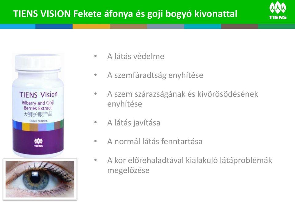Étrend-kiegészítők a látás fenntartására. Javítja a rövidlátást szemüveg nélkül